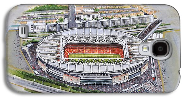 Art Mobile Galaxy S4 Cases - Emirates Stadium - Arsenal Galaxy S4 Case by D J Rogers