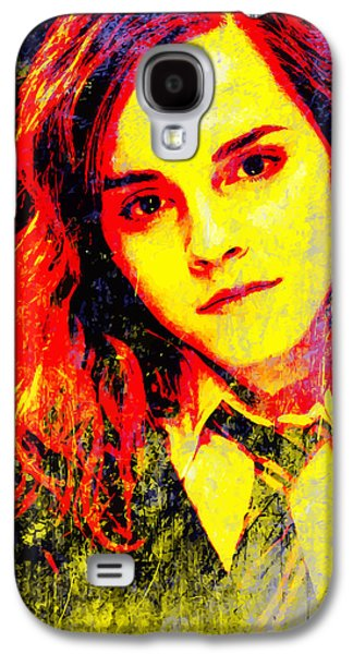 Hermione Granger Galaxy S4 Cases - Emma Watson as Hermione Granger Galaxy S4 Case by John Novis