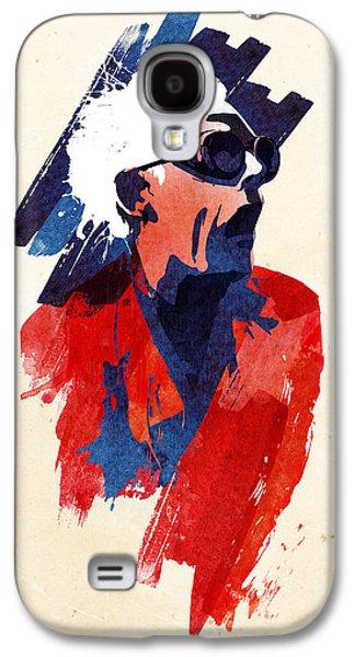Science Fiction Mixed Media Galaxy S4 Cases - Emmett Doc Galaxy S4 Case by Robert Farkas