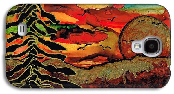 Surreal Landscape Galaxy S4 Cases - Emperors Sun Galaxy S4 Case by Jolanta Anna Karolska