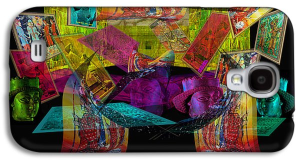 Photo Manipulation Paintings Galaxy S4 Cases - Empire of the Light-Poster Galaxy S4 Case by Dariush Alipanah- Jahroudi