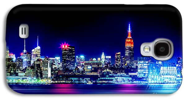 Midtown Galaxy S4 Cases - Empire State At Night Galaxy S4 Case by Az Jackson