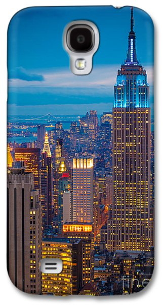 Empire State Blue Night Galaxy S4 Case by Inge Johnsson