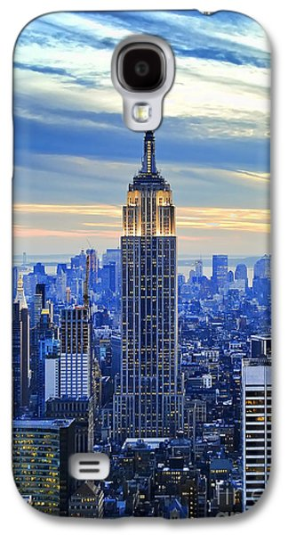 Light Photographs Galaxy S4 Cases - Empire State Building New York City USA Galaxy S4 Case by Sabine Jacobs