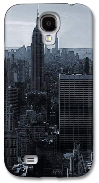 Skylines Mixed Media Galaxy S4 Cases - Empire State Of Mind Galaxy S4 Case by Dan Sproul