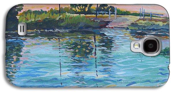Alga Paintings Galaxy S4 Cases - Empire Tract Ferry Galaxy S4 Case by Vanessa Hadady BFA MA