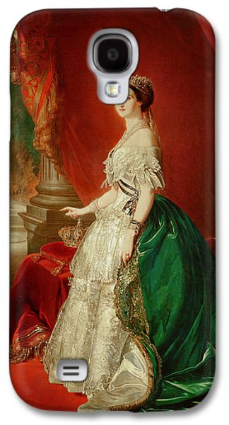 Court Galaxy S4 Cases - Empress Eugenie Of France 1826-1920 Wife Of Napoleon Bonaparte Iii 1808-73 Oil On Canvas Galaxy S4 Case by Franz Xaver Winterhalter