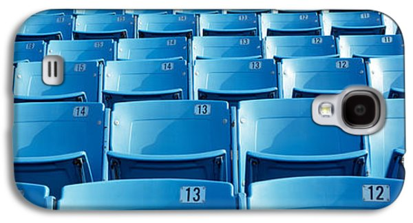 Soldier Field Galaxy S4 Cases - Empty Blue Seats In A Stadium, Soldier Galaxy S4 Case by Panoramic Images