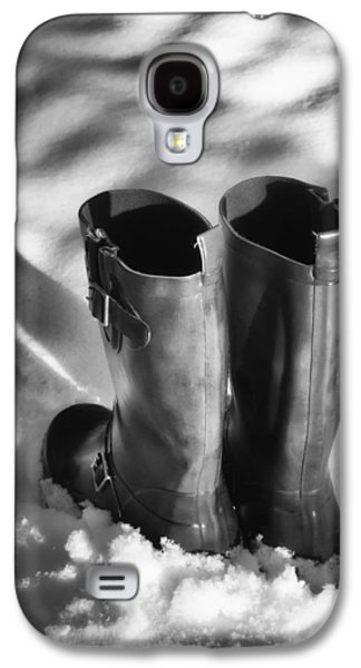 Wintertime Galaxy S4 Cases - Boots in Snow Galaxy S4 Case by Wim Lanclus