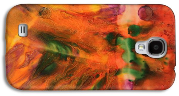 Recently Sold -  - Angel Mermaids Ocean Galaxy S4 Cases - Encaustic Art Image 15 Galaxy S4 Case by Samira Butt