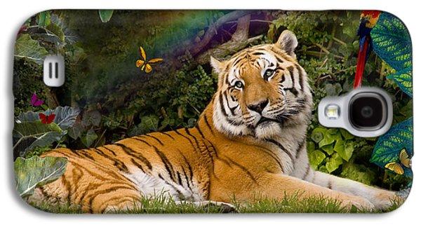 Alixandra Mullins Galaxy S4 Cases - Enchaned Tigress Galaxy S4 Case by Alixandra Mullins