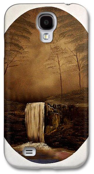 Bob Ross Paintings Galaxy S4 Cases - Enchanted Falls Galaxy S4 Case by Joyce Krenson