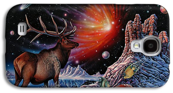 Cosmos Paintings Galaxy S4 Cases - Enchanted Monarch Galaxy S4 Case by Ricardo Chavez-Mendez