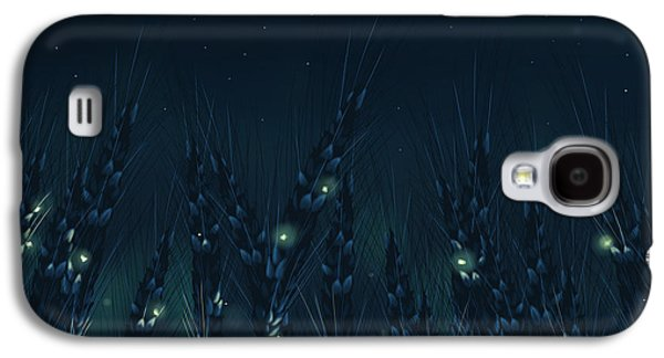 Night Sky Paintings Galaxy S4 Cases - Enchanted night Galaxy S4 Case by Veronica Minozzi