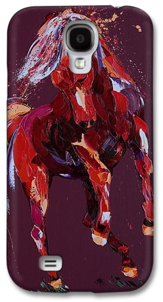 Wild Horse Paintings Galaxy S4 Cases - Enchantress Galaxy S4 Case by Penny Warden