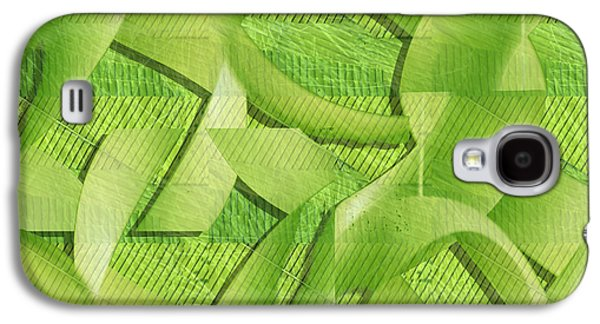 Abstract Forms Galaxy S4 Cases - Green Ribbons Galaxy S4 Case by Don Gradner
