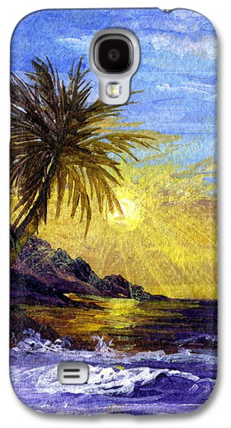 Sun Rays Paintings Galaxy S4 Cases - End Of The Day Galaxy S4 Case by Darice Machel McGuire