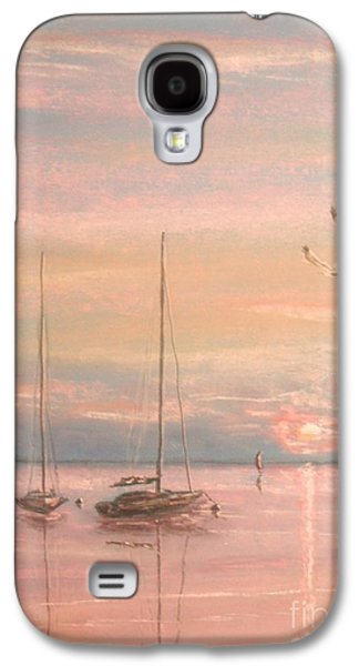 Beach Landscape Pastels Galaxy S4 Cases - End Of The Day Galaxy S4 Case by The Beach  Dreamer