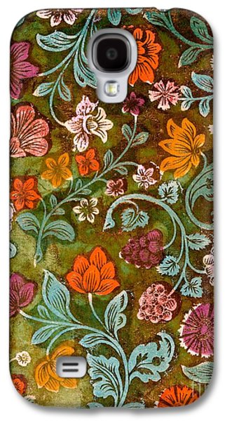 Floral Tapestries - Textiles Galaxy S4 Cases - Endplate from a Turkish Book Galaxy S4 Case by Turkish School