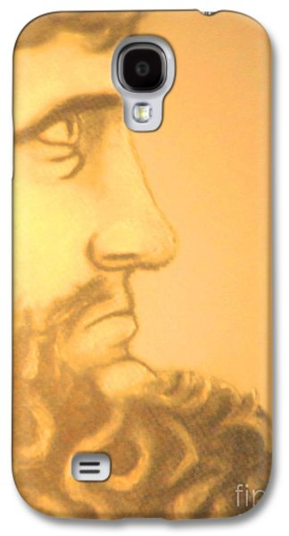 Religious Pastels Galaxy S4 Cases - Enforcer Galaxy S4 Case by Isaiah Diaz