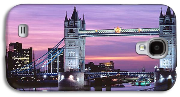 Brightly Galaxy S4 Cases - England, London, Tower Bridge Galaxy S4 Case by Panoramic Images