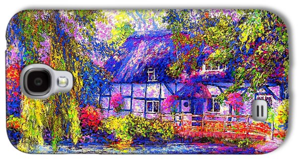 Hanging Galaxy S4 Cases - English Cottage Galaxy S4 Case by Jane Small
