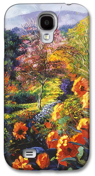 Pathway Paintings Galaxy S4 Cases - English Country Colors Galaxy S4 Case by David Lloyd Glover