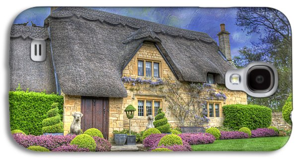 Country Cottage Galaxy S4 Cases - English Country Cottage Galaxy S4 Case by Juli Scalzi