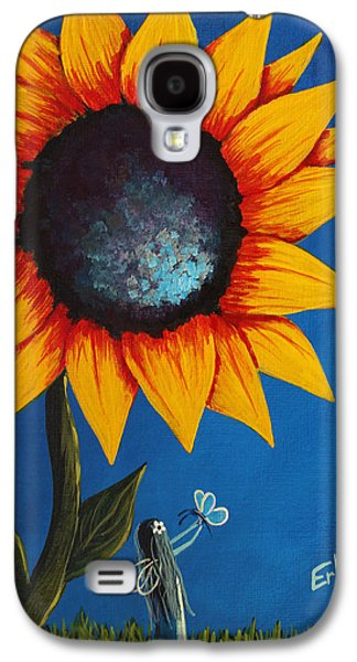 Dreamscape Galaxy S4 Cases - Enjoying Her Garden - Original Fairy Painting Galaxy S4 Case by Shawna Erback