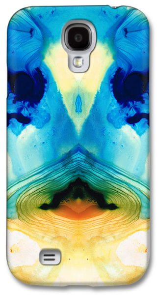Crows Paintings Galaxy S4 Cases - Enlightenment - Abstract Art By Sharon Cummings Galaxy S4 Case by Sharon Cummings