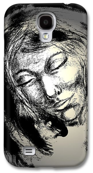 Spiritual Portrait Of Woman Mixed Media Galaxy S4 Cases - Enlightenment Galaxy S4 Case by Natalie Holland