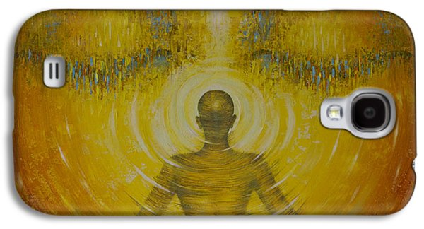 Unity Paintings Galaxy S4 Cases - Enlightenment Galaxy S4 Case by Vrindavan Das