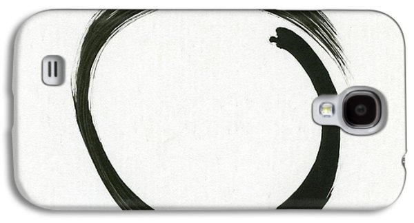 Enso #1 - Zen Circle Minimalistic Black And White Galaxy S4 Case by Marianna Mills