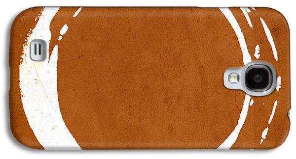Enso No. 107 Orange Galaxy S4 Case by Julie Niemela