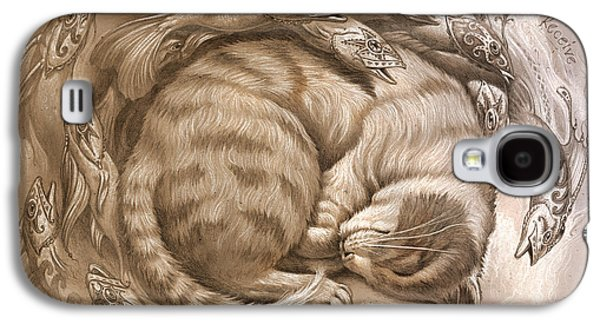 Cats Digital Art Galaxy S4 Cases - Enter the rest Galaxy S4 Case by Jeff Haynie