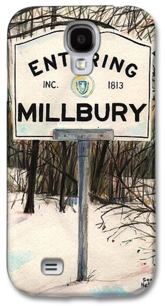 Scott Nelson Paintings Galaxy S4 Cases - Entering Millbury Galaxy S4 Case by Scott Nelson