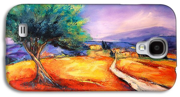 Countryside Paintings Galaxy S4 Cases - Entering the Village Galaxy S4 Case by Elise Palmigiani