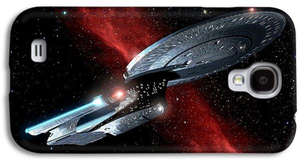 Recently Sold -  - Enterprise Galaxy S4 Cases - Enterprise Crossing The Nebula Galaxy S4 Case by Joseph Soiza