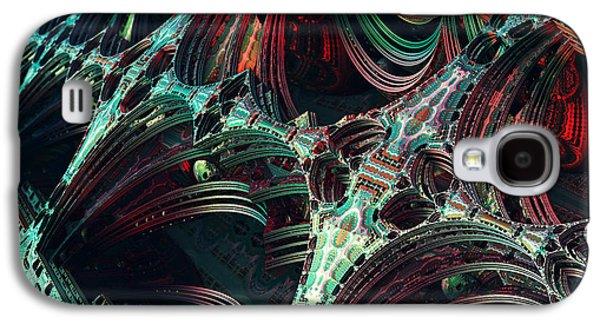 Enterprise Galaxy S4 Cases - Enterprise Pattern Fractal Galaxy S4 Case by Eros Marcuz
