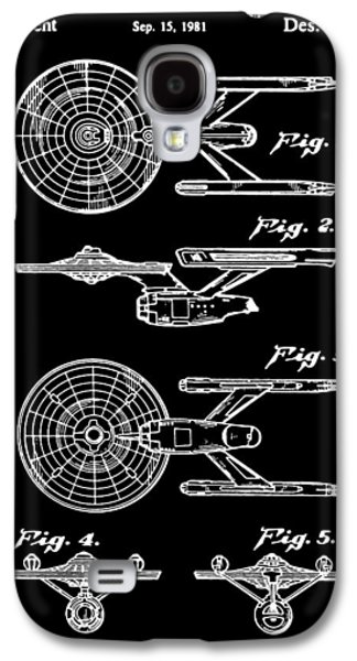 Enterprise Galaxy S4 Cases - Enterprise Toy Figure Patent - Black Galaxy S4 Case by Finlay McNevin
