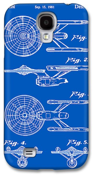 Enterprise Galaxy S4 Cases - Enterprise Toy Figure Patent - Blueprint Galaxy S4 Case by Finlay McNevin