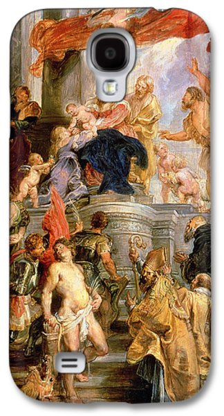 Jesus With Children Galaxy S4 Cases - Enthroned Madonna with Child Encircled by Saints Galaxy S4 Case by Rubens