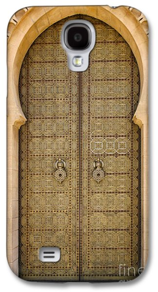 Rabat Photographs Galaxy S4 Cases - Entrance Door to the Mausoleum Mohammed V Rabat Morocco Galaxy S4 Case by Ralph A  Ledergerber-Photography