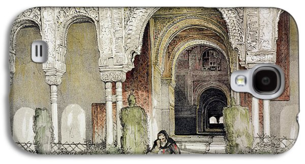 Sisters Drawings Galaxy S4 Cases - Entrance To The Hall Of The Two Sisters Galaxy S4 Case by John Frederick Lewis