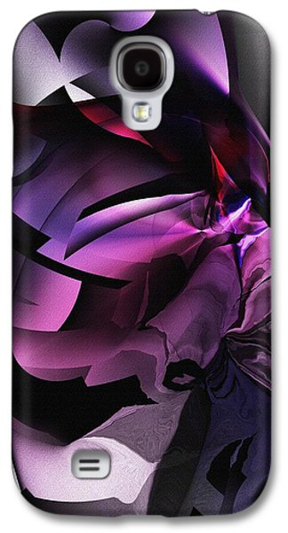 Abstract Digital Art Galaxy S4 Cases - Entropy in Purple Galaxy S4 Case by David Lane
