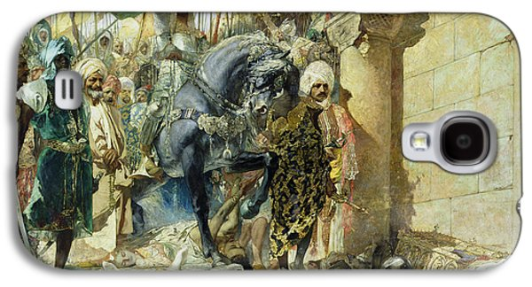 Byzantine Paintings Galaxy S4 Cases - Entry of the Turks of Mohammed II Galaxy S4 Case by Benjamin Constant