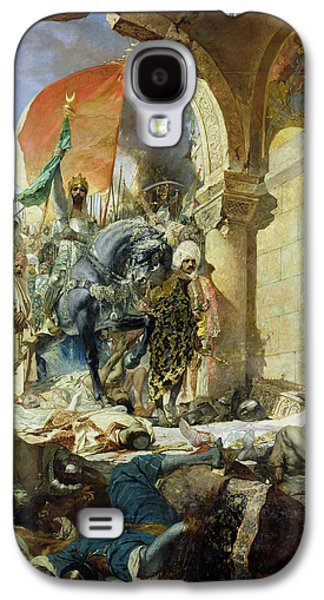 Byzantine Paintings Galaxy S4 Cases - Entry of the Turks of Mohammed II into Constantinople Galaxy S4 Case by Benjamin Constant