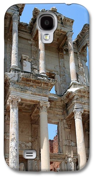 Colum Galaxy S4 Cases - Ephesus Celsus Library Galaxy S4 Case by Tracey Harrington-Simpson