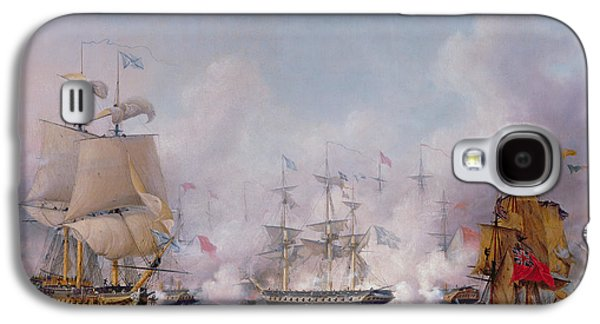 Independence Paintings Galaxy S4 Cases - Episode of the Battle of Navarino Galaxy S4 Case by Ambroise-Louis Garneray