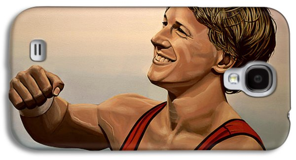 Olympic Gold Medalist Galaxy S4 Cases - Epke Zonderland The Flying Dutchman Galaxy S4 Case by Paul Meijering